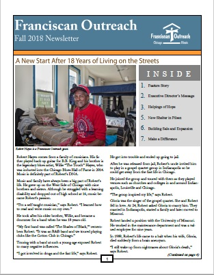Fall 2018 Newsletter Front Cover